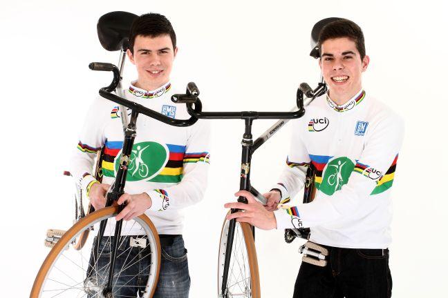 André und Benedikt Bugner 2er Kunstradsport Weltmeister
